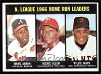 N. League Home Run Leaders (Hank Aaron, Dick Allen, Willie Mays) [EX]
