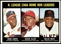 N. League Home Run Leaders (Hank Aaron, Dick Allen, Willie Mays) [VG EX+]