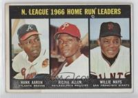 N. League Home Run Leaders (Hank Aaron, Dick Allen, Willie Mays) [Poorto&…