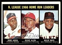 N. League Home Run Leaders (Hank Aaron, Dick Allen, Willie Mays) [VG]