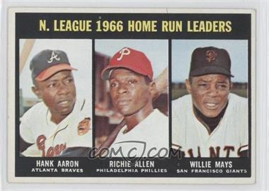 1967 Topps - [Base] #244 - N. Leauge Home Run Leaders (Hank Aaron, Dick Allen, Willie Mays)