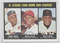 N. Leauge Home Run Leaders (Hank Aaron, Dick Allen, Willie Mays)