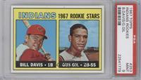 1967 Rookie Stars - Bill Davis, Gus Gil [PSA9MINT]