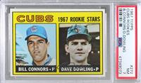 1967 Rookie Stars - Bill Connors, Dave Dowling [PSA7NM]