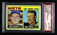 1967 Rookie Stars - Greg Goossen, Bart Shirley [PSA8NM‑MT]