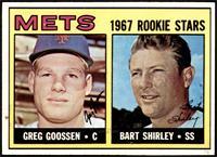 1967 Rookie Stars - Greg Goossen, Bart Shirley [EXMT]
