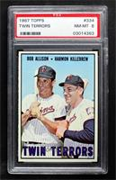 Twin Terrors (Bob Allison, Harmon Killebrew) [PSA 8 NM‑MT]