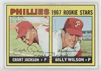 Grant Jackson, Bill Wilson (Complete Line under Stats on Back)