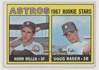 1967 Rookie Stars - Norm Miller, Doug Rader [GoodtoVG‑EX]