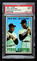 Willie Mays, Willie McCovey [PSA 7 NM]