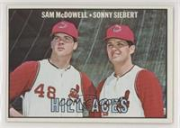 Sam McDowell, Sonny Siebert [Good to VG‑EX]