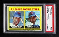 1967 Rookie Stars - Rod Carew, Hank Allen [PSA3VG]