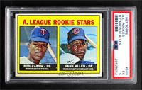 1967 Rookie Stars - Rod Carew, Hank Allen [PSA 5 EX]