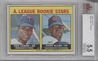 1967 Rookie Stars - Rod Carew, Hank Allen [BVG5.5EXCELLENT+]