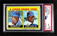 A. League Rookie Stars (Rod Carew, Hank Allen) [PSA 8 NM‑MT]