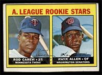 A. League Rookie Stars (Rod Carew, Hank Allen) [VG]