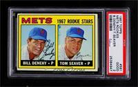 1967 Rookie Stars - Bill Denehy, Tom Seaver [PSA2GOOD]