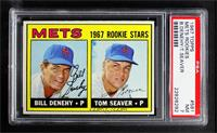 1967 Rookie Stars - Bill Denehy, Tom Seaver [PSA 7 NM]