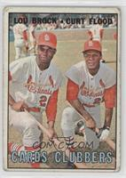 Lou Brock, Curt Flood [Poor to Fair]
