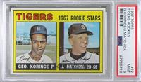 1967 Rookie Stars - George Korince, Tom Matchick (James Brown pictured in Korin…