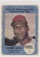 Orlando Cepeda (Picture Back) [Poor to Fair]