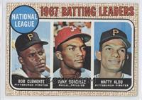 1967 NL Batting Leaders (Roberto Clemente,Tony Gonzalez, Matty Alou)