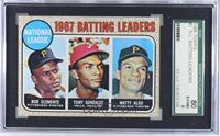 1967 NL Batting Leaders (Roberto Clemente,Tony Gonzalez, Matty Alou) [SGC…
