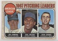 1967 AL Pitching Leaders (Jim Lonborg, Earl Wilson, Dean Chance) (