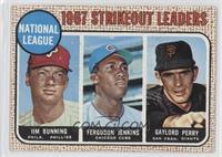 1967 NL Strikeout Leaders (Jim Bunning, Ferguson Jenkins, Gaylord Perry)