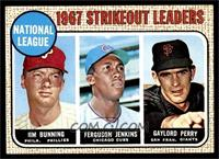 1967 NL Strikeout Leaders (Jim Bunning, Ferguson Jenkins, Gaylord Perry) [NM]