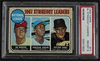 1967 NL Strikeout Leaders (Jim Bunning, Ferguson Jenkins, Gaylord Perry) [PSA&n…