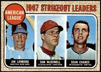1967 AL Strikeout Leaders (Jim Lonborg, Sam McDowell, Dean Chance) [NMMT]