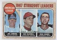 1967 AL Strikeout Leaders (Jim Lonborg, Sam McDowell, Dean Chance) [Noted]