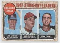1967 AL Strikeout Leaders (Jim Lonborg, Sam McDowell, Dean Chance) [Goodt…