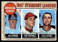 Jim Lonborg, Sam McDowell, Dean Chance [VG]