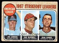 Jim Lonborg, Sam McDowell, Dean Chance [GOOD]