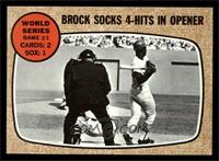 World Series Game #1 - Brock Socks 4-Hits In Opener [NM MT]