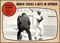 World Series Game #1 - Brock Socks 4-Hits In Opener [NM+]