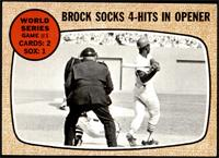World Series Game #1 - Brock Socks 4-Hits In Opener [EX MT+]