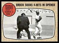 World Series Game #1 - Brock Socks 4-Hits In Opener [NM]