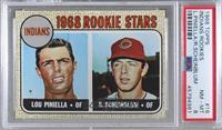 1968 Rookie Stars - Lou Piniella, Richie Scheinblum [PSA8NM‑M…