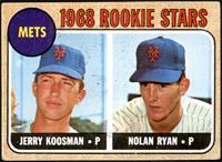 1968 Rookie Stars - Jerry Koosman, Nolan Ryan [VG+]