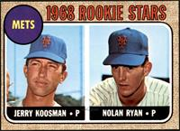 1968 Rookie Stars - Jerry Koosman, Nolan Ryan [EXMT]