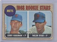 1968 Rookie Stars - Jerry Koosman, Nolan Ryan [Good to VG‑EX]