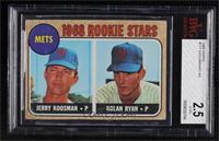 1968 Rookie Stars - Jerry Koosman, Nolan Ryan [BVG2.5G‑VG]