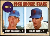 1968 Rookie Stars - Jerry Koosman, Nolan Ryan [EX]