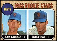 1968 Rookie Stars - Jerry Koosman, Nolan Ryan [VG]