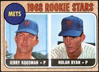 1968 Rookie Stars - Jerry Koosman, Nolan Ryan [VGEX]