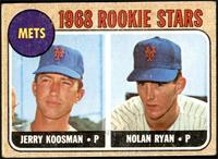 1968 Rookie Stars - Jerry Koosman, Nolan Ryan [GD+]