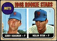 1968 Rookie Stars - Jerry Koosman, Nolan Ryan [GOOD]